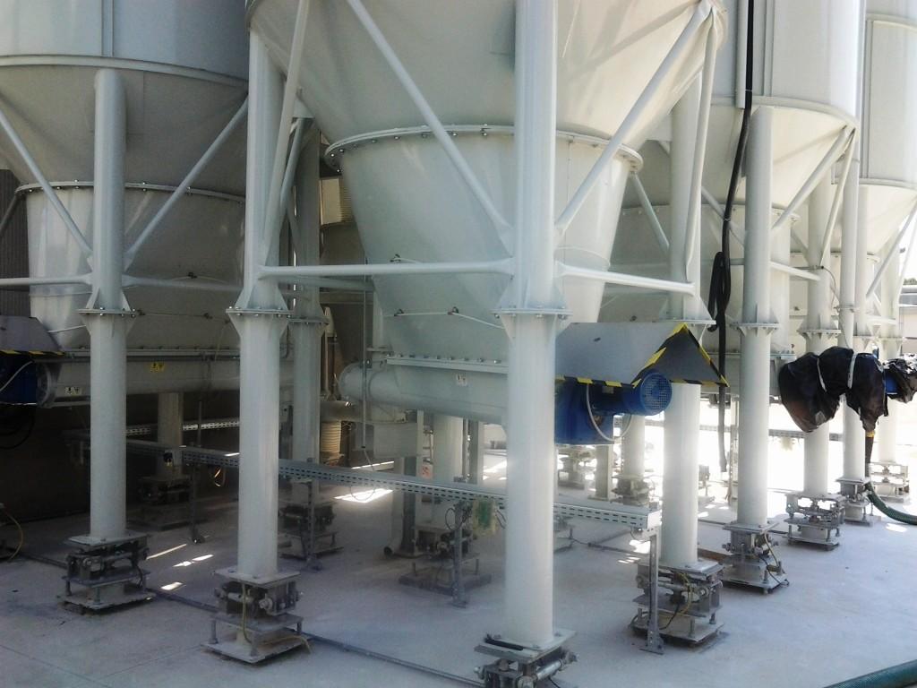 Celle di carico sulle zampe dei silos