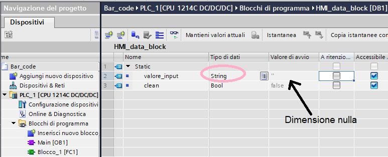 DB stringa Barcode G-Tronic