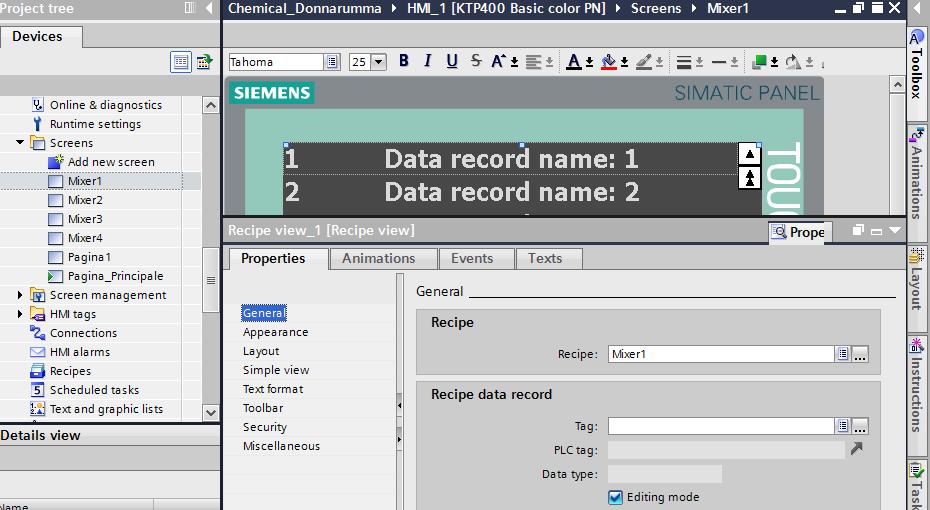 Screenshoot selezione per singolo pannello