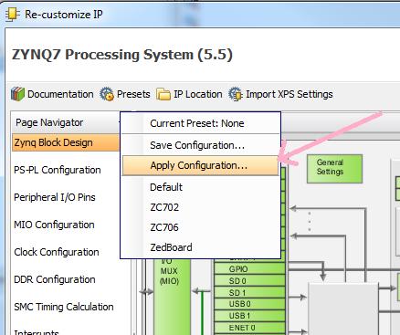 17 - zynq processor apply presets