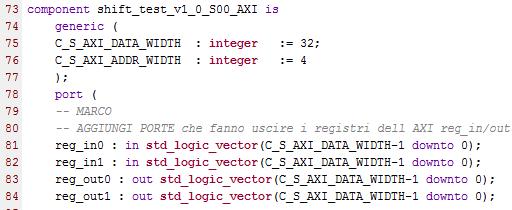 behavioral_shift_register_top_component AXI registers