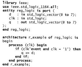 registro 8 bit VHDL