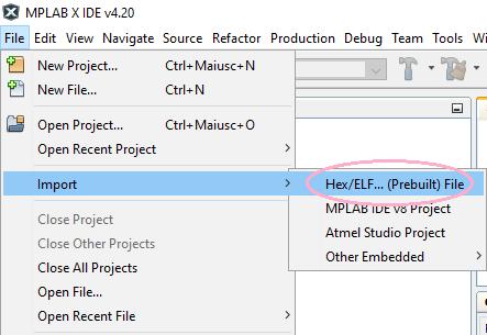 1 importo hex file
