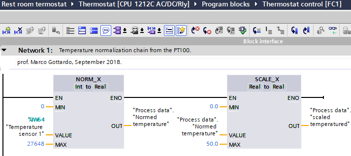 thermostat normalization chain Micro-GT