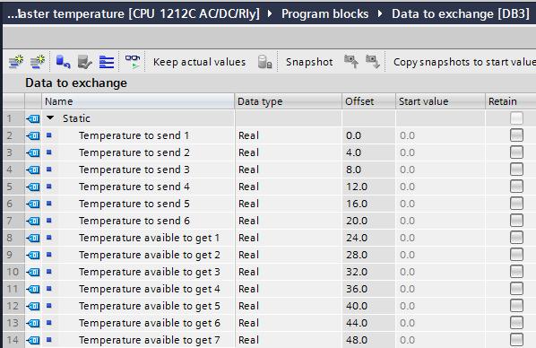 data block data to exchange