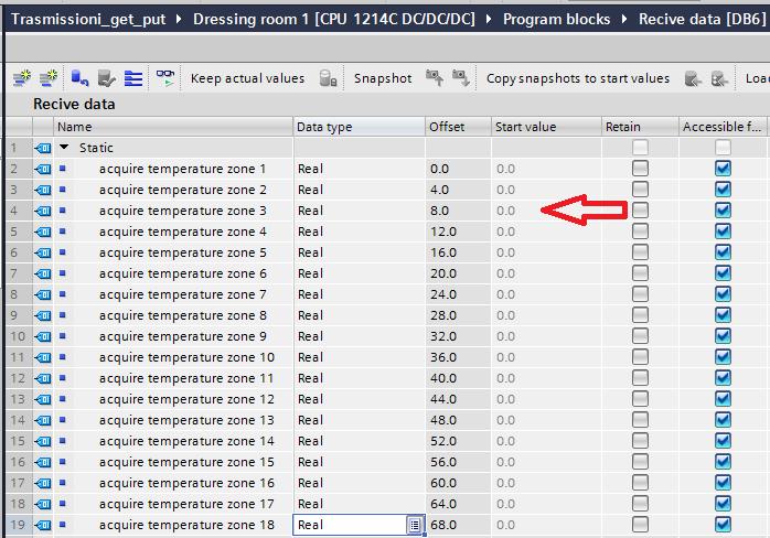 data block recive temperature